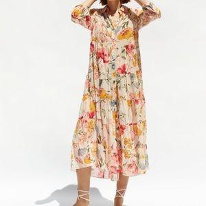 Zara floral flowy print dress